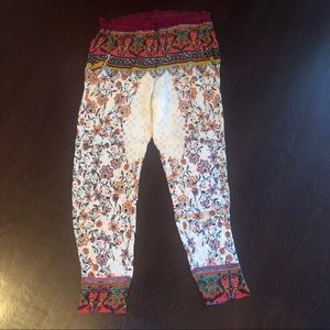 Free People floral harem pants